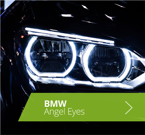 Projector Cob LED Fog DRL Spot Lights Angel Eyes Pair For Saab